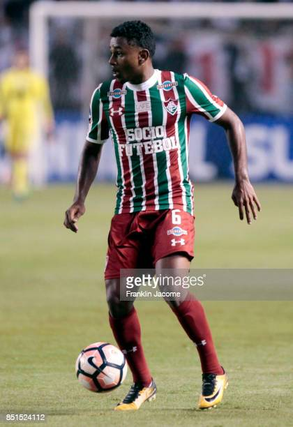 Wendel of Fluminense controls the ball during a second leg match between LDU Quito and Fluminense as part of round of 16 of Copa CONMEBOL...