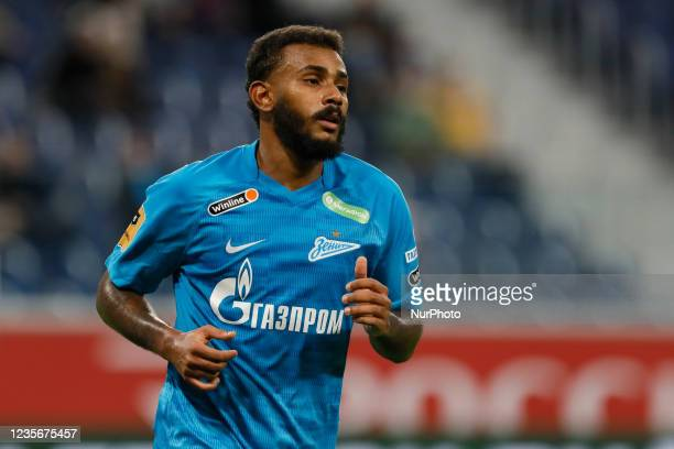 Wendel of Zenit during the Russian Premier League match between FC Zenit Saint Petersburg and FC Sochi on October 3, 2021 at Gazprom Arena in Saint...