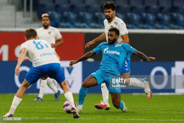 Wendel of Zenit in action against Rodrigao of Sochi during the Russian Premier League match between FC Zenit Saint Petersburg and FC Sochi on October...