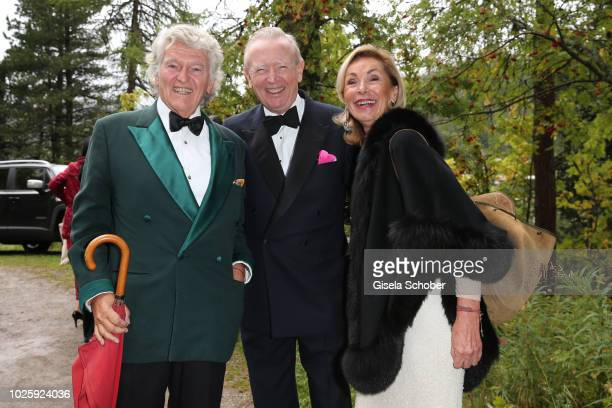 Wendelin von Boch and his wife Brigitte von Boch and Prince Ludwig Ferdinand zu SaynWittgensteinBerleburg during the wedding of Prince Konstantin of...