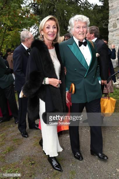 Wendelin von Boch and his wife Brigitte von Boch during the wedding of Prince Konstantin of Bavaria and Princess Deniz of Bavaria born Kaya at the...