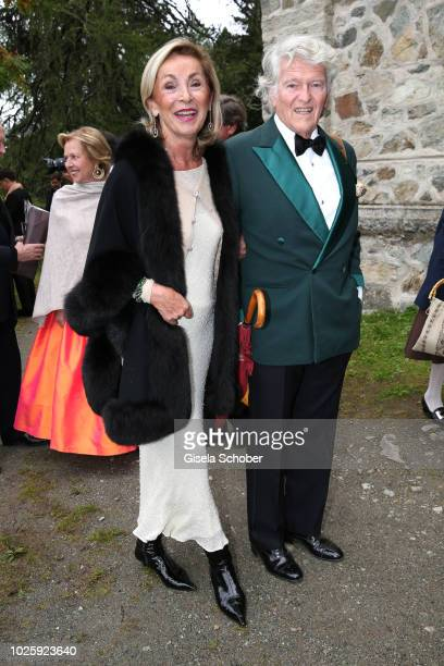 Wendelin von Boch and his wife Brigitte von Boch during the wedding of Prince Konstantin of Bavaria and Princess Deniz of Bavaria born Kaya at the...