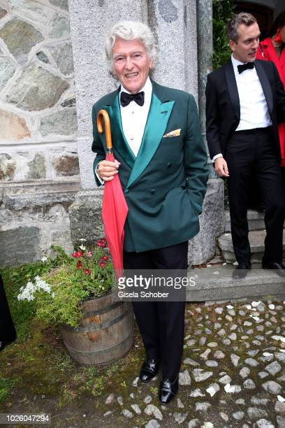 Wendelin von Boch during the wedding of Prince Konstantin of Bavaria and Princess Deniz of Bavaria born Kaya at the french church 'Eglise au Bois' on...