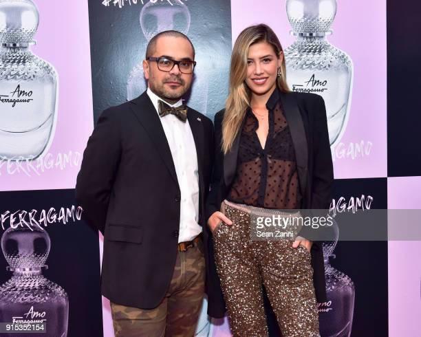Wendell Figueroa Ruiz and Michelle Salas attend Salvatore Ferragamo Suki Waterhouse celebrate AMO Ferragamo on February 6 2018 in New York City