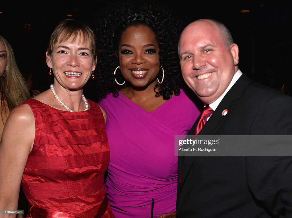 Wendell Hall, actress Oprah Winfrey and actor James DuMont attend the after party for the Premiere Of The Weinstein Company's 'Lee Daniels' The Butler' at Regal Cinemas L.A. Live on August 12, 2013 in Los Angeles, California.