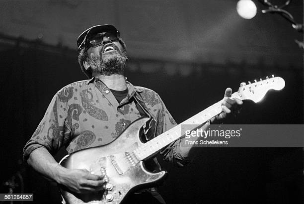 Wendell Holmes, guitar and vocals, performs with the Holmes Brothers on November 9th 1990 at the Paradiso in Amsterdam, Netherlands.