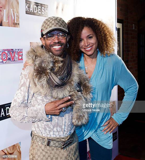Wendell James and Mari Morrow attend the Private Listening Party For Kadesh aka Desiree Coleman Jackson Hosted By ESPN Sports Analyst Mark Jackson at...