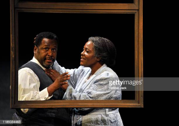 Wendell Pierce as Willy Loman and Sharon D. Clarke as Linda Loman in the Young Vic production of Arthur Miller's Death Of A Salesman directed by...