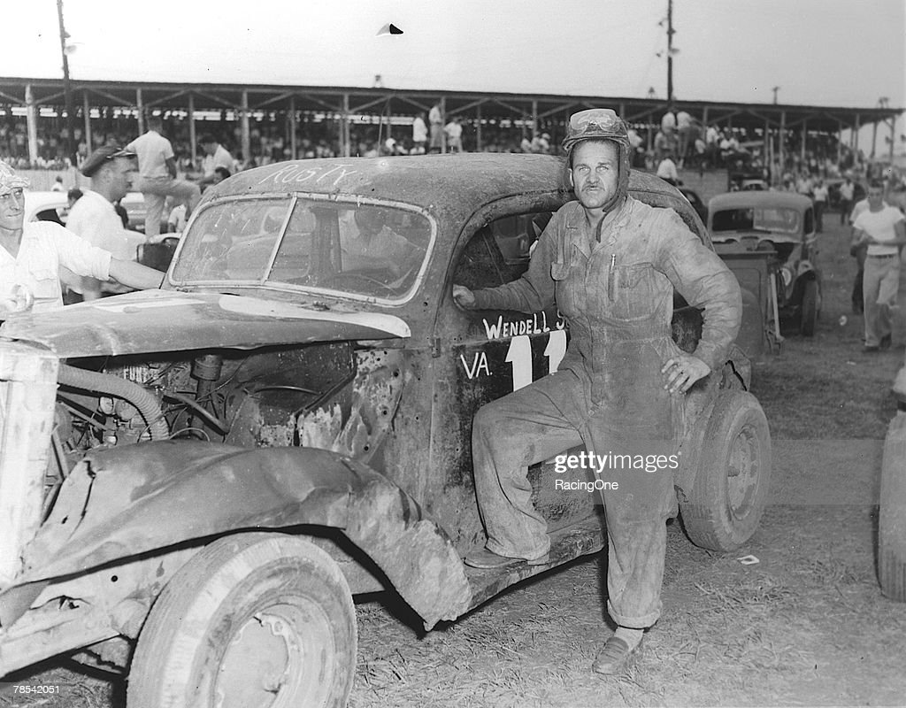 Wendall Scott Poses by Homebuilt Modified Race Car : News Photo