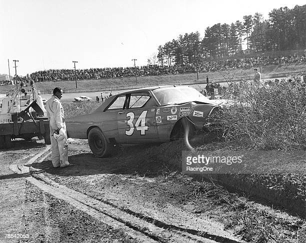 Wendell Scott experienced a crash and exited the Western North Carolina 500 at Asheville-Weaverville Speedway in Asheville, North Carolina on...