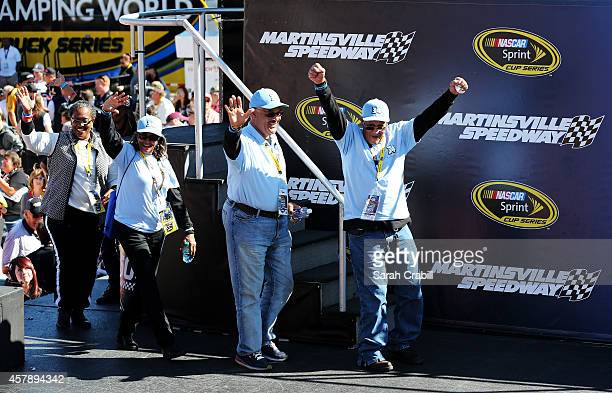 Wendell Scott, Jr., Frank Scott, Janis Davis and Cheryl Ashley are introduced as part of pre-race ceremonies forthe NASCAR Sprint Cup Series Goody's...