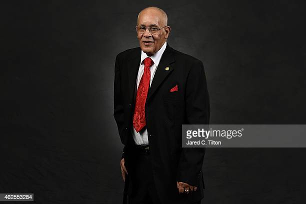 Wendell Scott Jr., son of NASCAR Hall of Famer Wendell Scott, poses during a portrait session prior to the NASCAR Hall of Fame Induction Ceremony at...