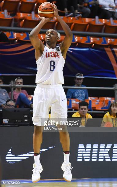 Wendell Williams JR of United States takes a shot during the FIBA Americup semi final match between US and Virgin Islands at Orfeo Superdomo arena on...