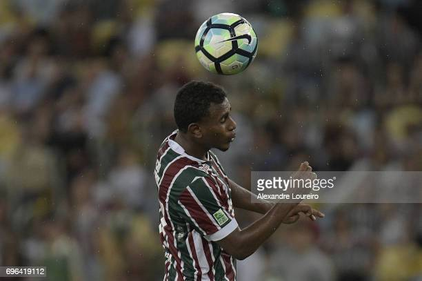 Wendel of Fluminense in action during the match between Fluminense and Gremio as part of Brasileirao Series A 2017 at Maracana Stadium on June 15...