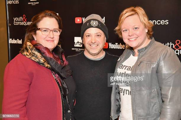 Wendey Stanzler Jason Ubaldi and Jen Chambers attends the YouTube Red Originals Series 'Youth Consequences' screening on February 28 2018 in Los...