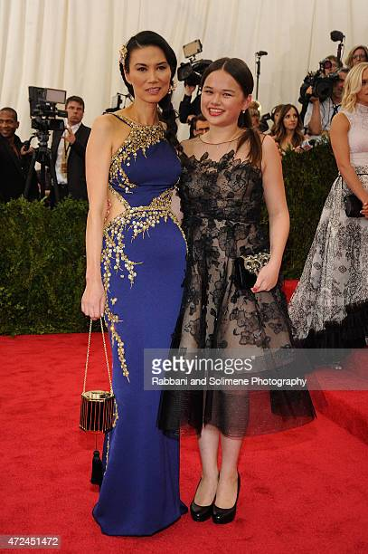 Wendi Deng and Grace Helen Murdoch arrives at China Through The Looking Glass Costume Institute Benefit Gala at the Metropolitan Museum of Art on May...
