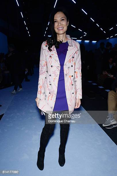 Wendi Deng attends the Giambattista Valli show as part of the Paris Fashion Week Womenswear Fall/Winter 2016/2017 on March 7 2016 in Paris France