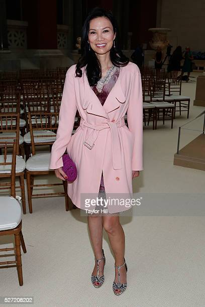 Wendi Deng attends the press preview for Manus x Machina Fashion in an Age of Technology before the Costume Institute Gala at the Metropolitan Museum...