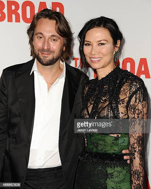 Wendi Deng Murdoch and guest attend the Broad Museum black tie inaugural dinner at The Broad on September 17 2015 in Los Angeles California