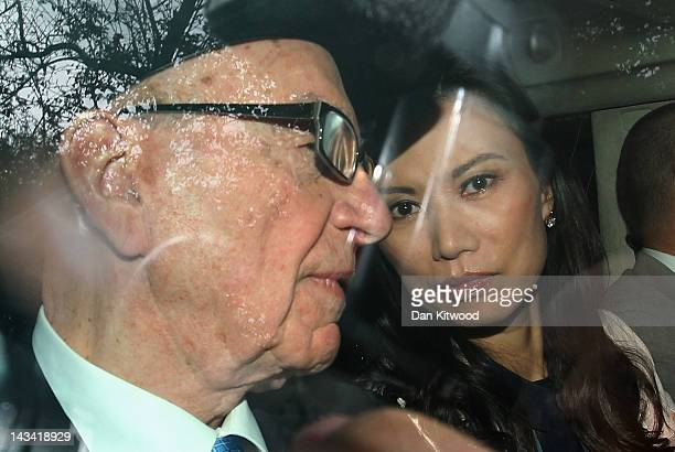 Wendi Deng Murdoch and Rupert Murdoch leave the High Court after Rupert Murdoch gave evidence to the Leveson Inquiry on April 26 2012 in London...