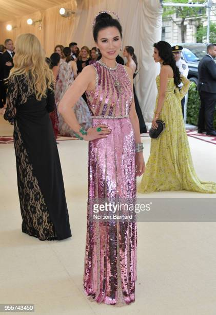 Wendi Deng Murdoch attends the Heavenly Bodies Fashion The Catholic Imagination Costume Institute Gala at The Metropolitan Museum of Art on May 7...
