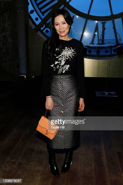 Wendi Deng Murdoch attends the press preview of About Time Fashion and Duration the 2020 Metropolitan Museum of Art Costume Institute exhibition at...