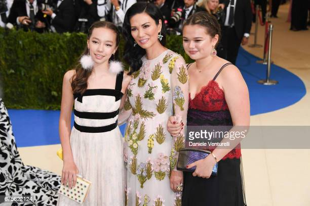 Wendi Deng Murdoch with her daughters Chloe Murdoch and Grace Helen Murdoch attends Rei Kawakubo/Comme des Garcons Art Of The InBetween Costume...