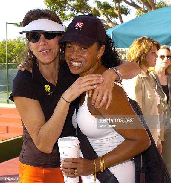 Wendi Malick and Rae Dawn Chong during The Cystic Fibrosis 19th Annual Celebrity Tennis Tournament To Fund Research Toward A Cure at Manhattan...