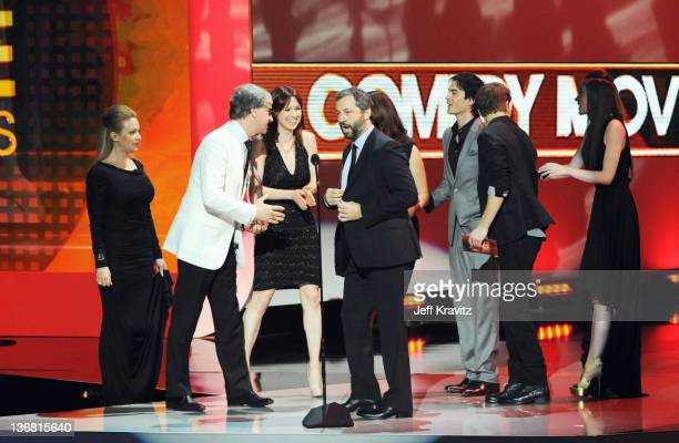 Wendi McLendonCovey director Paul Feig actress Ellie Kemper producer Judd Apatow Ian Somerholder and Paul Wesley at the 2012 People's Choice Awards...