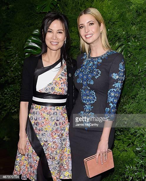 Wendi Murdoch and Ivanka Trump attend the Women's Brain Health Initiative Launch at Urban Zen on March 23 2015 in New York City