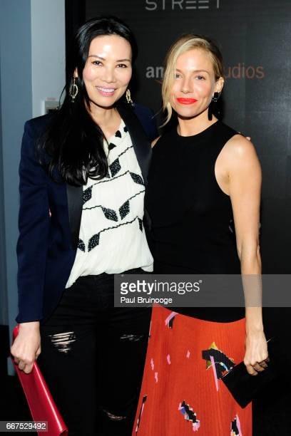 Wendi Murdoch and Sienna Miller attend Amazon Studios Bleecker Street Host a Screening of 'The Lost City of Z' at SAGAFTRA on April 11 2017 in New...