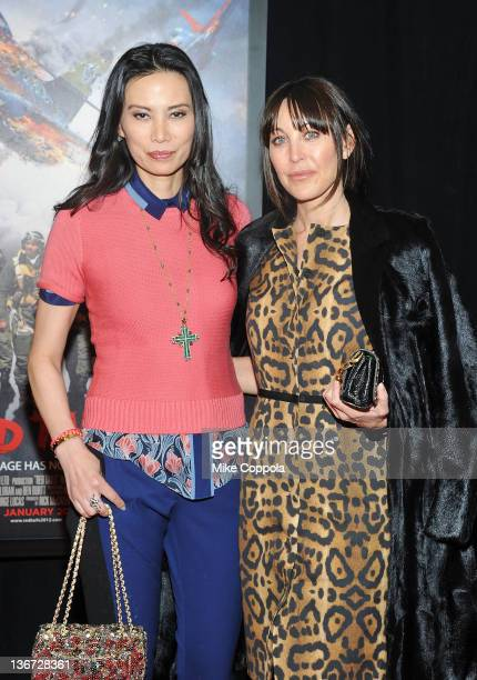 Wendi Murdoch and Tamara Mellon attends the 'Red Tails' premiere at the Ziegfeld Theater on January 10 2012 in New York City
