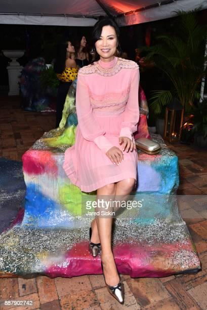 Wendi Murdoch attends Artsy Projects Miami VIP at The Bath Club on December 6 2017 in Miami Beach Florida