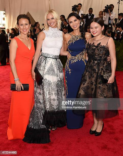 Wendi Murdoch Grace Murdoch and guests attend the China Through The Looking Glass Costume Institute Benefit Gala at the Metropolitan Museum of Art on...
