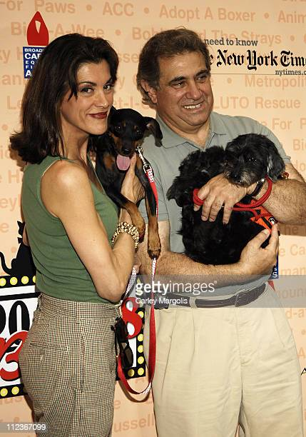 Wendie Malick and Dan Lauria during Broadway Barks 8 at Shubert Alley in New York City New York United States