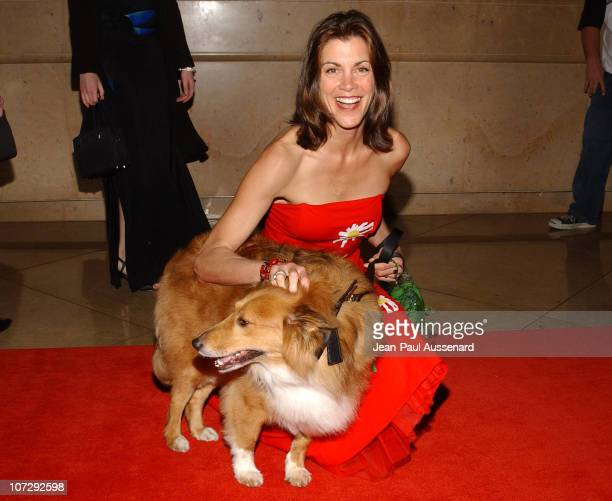 Wendie Malick and Murphy during The 18th Annual Genesis Awards and 50th Anniversary of the Humane Society of the United States Arrivals at Beverly...