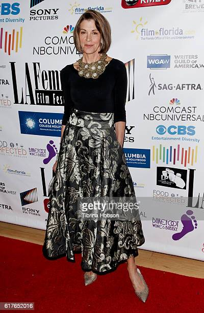 Wendie Malick attends the 12th annual La Femme International Film Festival closing ceremony at The Los Angeles Theatre Center on October 23 2016 in...