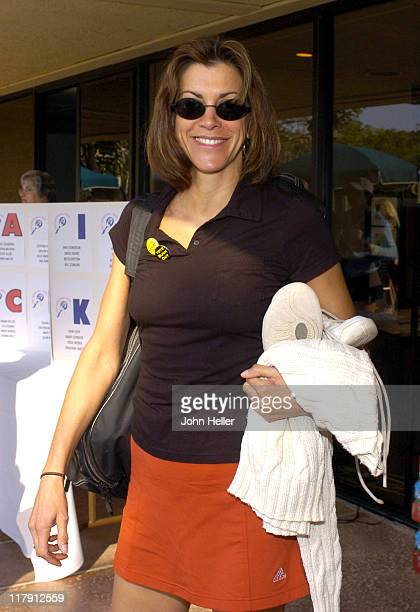 Wendie Malick during The Cystic Fibrosis 19th Annual Celebrity Tennis Tournament To Fund Research Toward A Cure at Manhattan Country Club in...