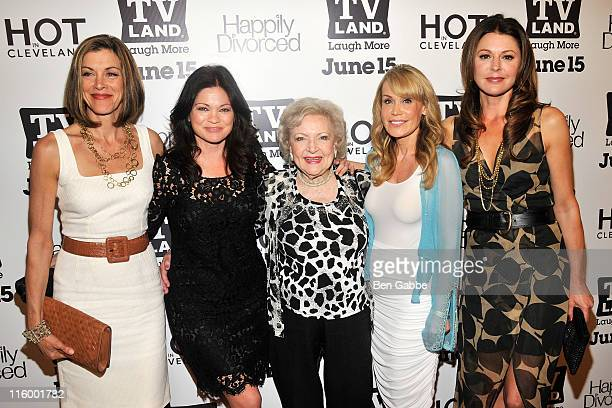 """Wendie Malick, Valerie Bertinelli, Betty White, Suzanne Martin and Jane Leeves attend the TV Land """"Hot In Cleveland"""" and """"Happily Divorced"""" premiere..."""