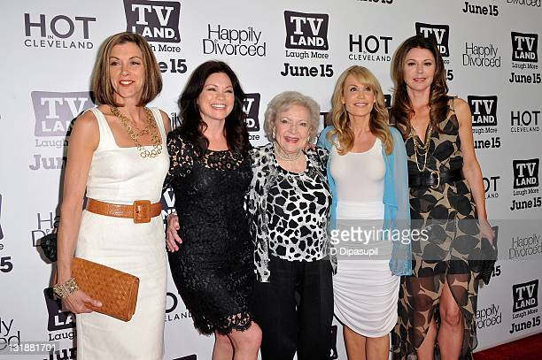 """Wendie Malick, Valerie Bertinelli, Betty White, Suzanne Martin, and Jane Leeves attend the TV Land """"Hot In Cleveland"""" and """"Happily Divorced"""" premiere..."""
