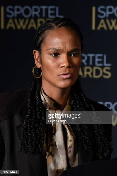 Wendie Renard attends SPORTEL Monaco 2017 at the Grimaldi Forum on October 24 2017 in Monaco Monaco