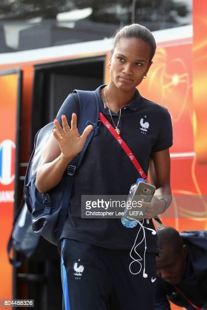 Wendie Renard of France arrives at the stadium prior to the UEFA Women's Euro 2017 Quarter Final match between France and England at Stadion De...