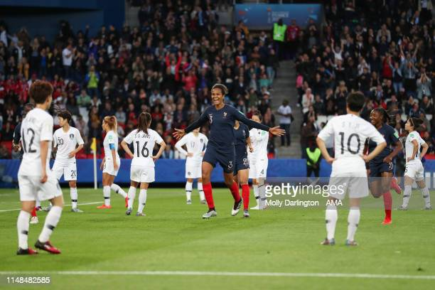 Wendie Renard of France celebrates after scoring a goal to make it 30 during the 2019 FIFA Women's World Cup France group A match between France and...