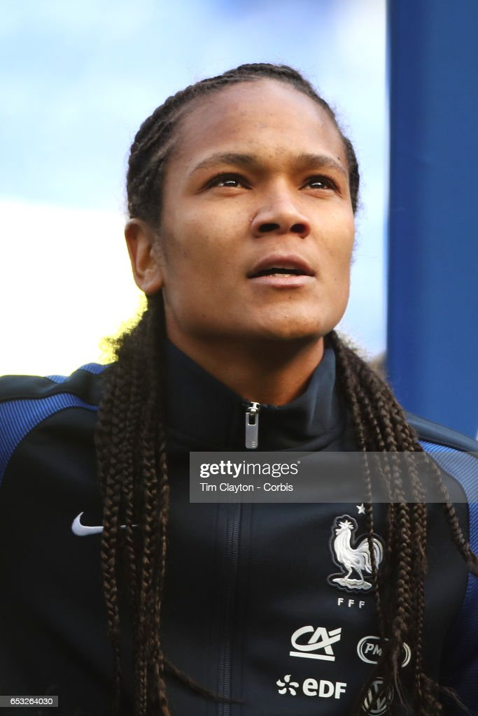 Wendie Renard #3 of France during the France Vs Germany SheBelieves Cup International match at Red Bull Arena on March 4, 2017 in Harrison, New Jersey.