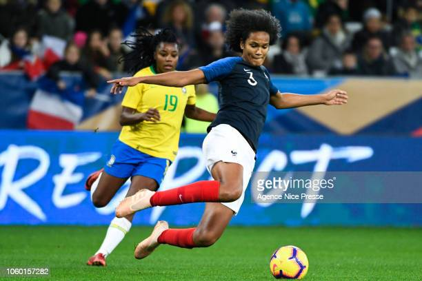 Wendie Renard of France during the International Women match between France and Brazil at Allianz Riviera Stadium on November 10 2018 in Nice France