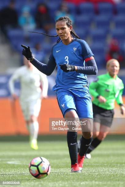 Wendie Renard of France in action during the France Vs Germany SheBelieves Cup International match at Red Bull Arena on March 4 2017 in Harrison New...