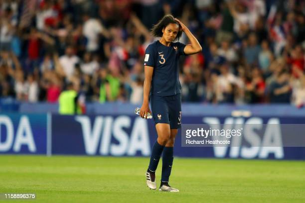 Wendie Renard of France looks dejected following the 2019 FIFA Women's World Cup France Quarter Final match between France and USA at Parc des...
