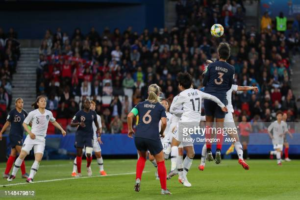 Wendie Renard of France scores a goal to make it 30 during the 2019 FIFA Women's World Cup France group A match between France and Korea Republic at...