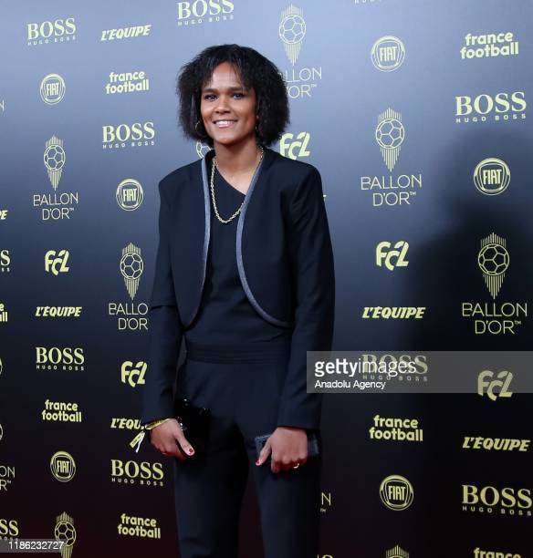 Wendie Renard of Olympique Lyon arrives for the Ballon d'Or ceremony at Theatre du Chatelet in Paris on December 02 2019