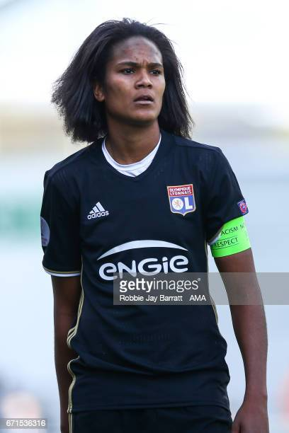 Wendie Renard of Olympique Lyonnais during the UEFA Women's Champions League semi final first leg match between Manchester City Ladies and Lyon on...
